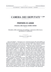 Proposta-legge-savino-podoiatria-3999-camera-deputati-27-luglio-2016
